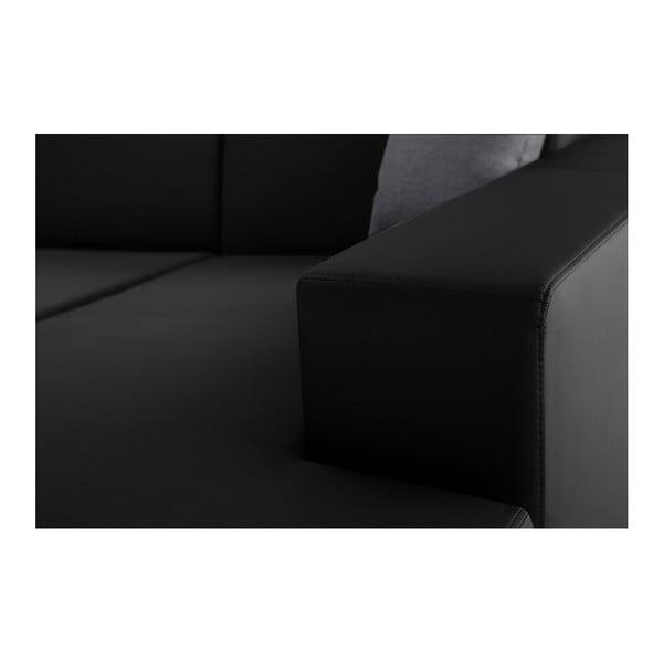 Černá sedačka se šedými polštáři Interieur De Famille Paris Tresor, pravý roh
