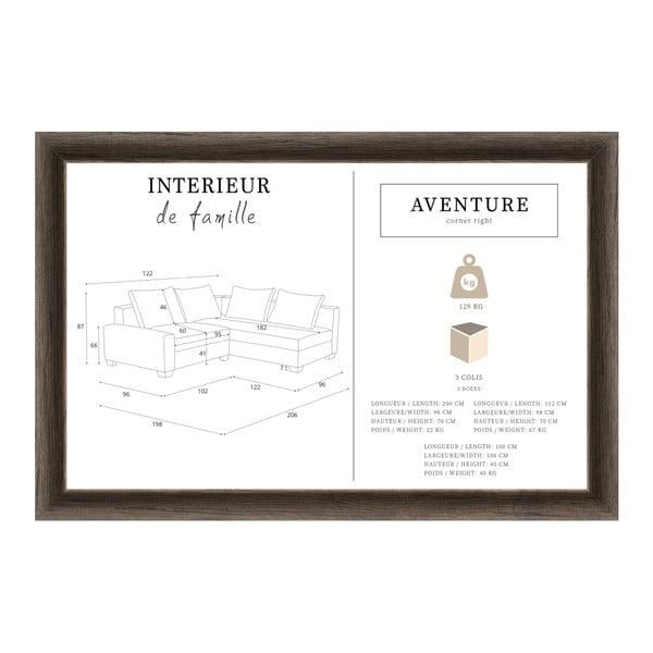 Tmavě modrá sedačka Interieur De Famille Paris Aventure, pravý roh