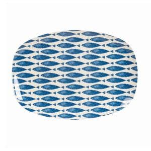Melaminový servírovací talíř Couture Fishie, 30x21 cm