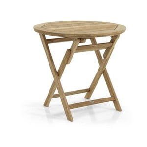 Zahradní stolek v přírodní barvě Brafab Turin, ∅90cm