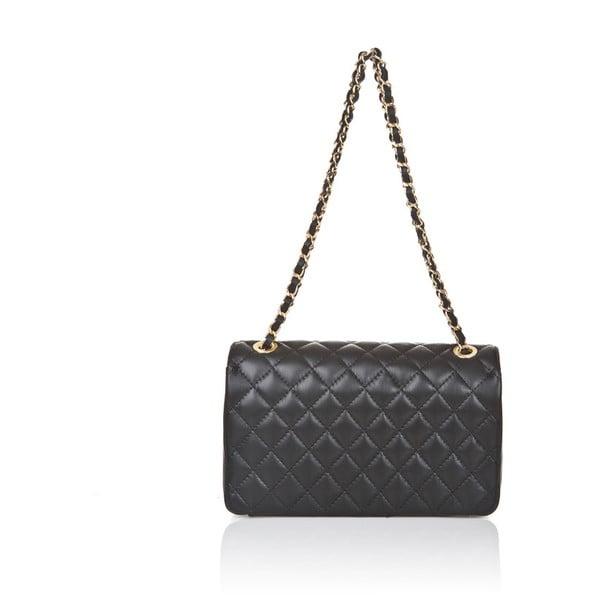 Černá kožená kabelka Markese Basilo