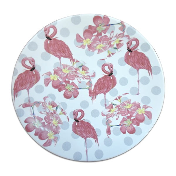 Keramický talíř Flamingos, ⌀25cm