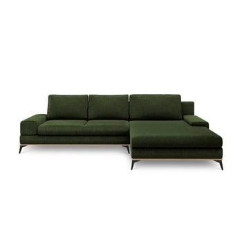 Colțar extensibil cu șezlong pe partea dreaptă Windsor & Co Sofas Planet, verde de la Windsor & Co Sofas