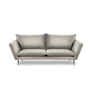 Canapea cu 4 locuri din catifea Mazzini Sofas Acacia, lungime 225 cm, bej imagine