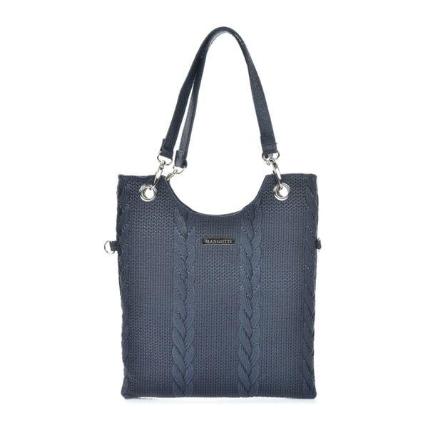 Ciemnoniebieska skórzana torebka Mangotti Bags Rosalia