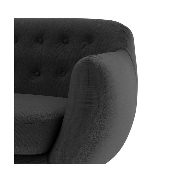 Antracitová sedačka pro dva Wintech Indigo Ornoco
