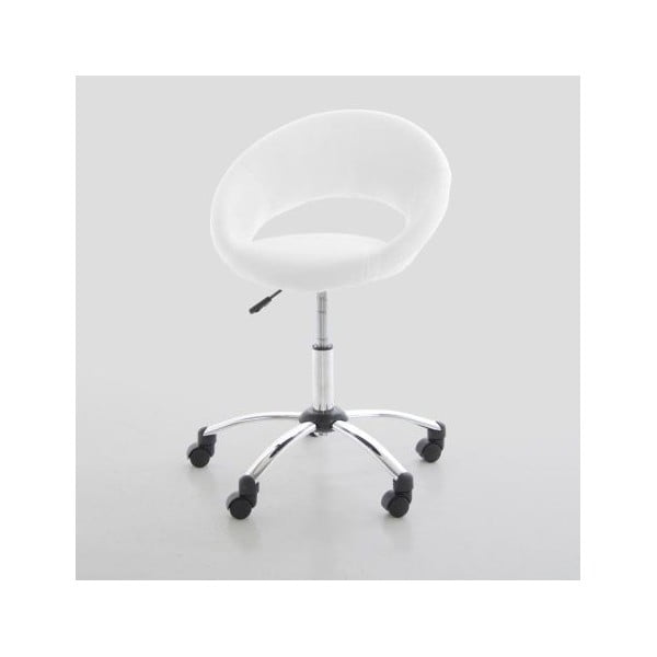 Białe krzesło biurowe Actona Plump