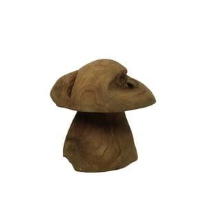 Dekorace z teakového dřeva HSM Collection Mushroom,25cm