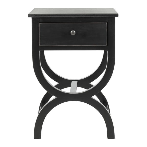 Noční stolek Maxine, černý