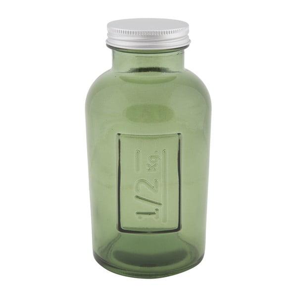 Zelená dóza z recyklovaného skla Mauro Ferretti Coperchio, ⌀ 8,5 cm