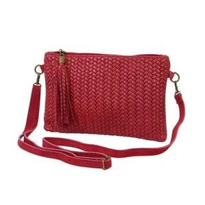 Tmavě červená kabelka / psaníčko z pravé kůže Andrea Cardone Michele
