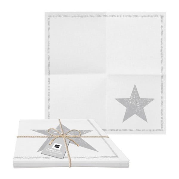 Star Fashion 2 db pamut szalvéta ezüst részletekkel, 20 x 20 cm - PPD