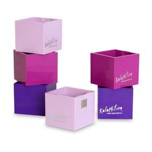Set 6ks magnetických květináčů Cube Violet, malý
