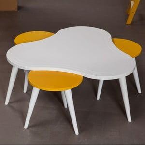 Konferenční stolek Bubble White se židlemi