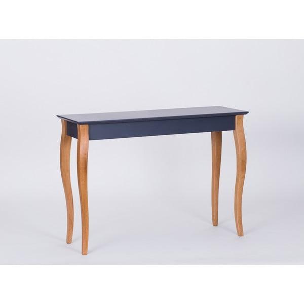 Grafitově šedý odkládací stolek Ragaba Console,délka105cm