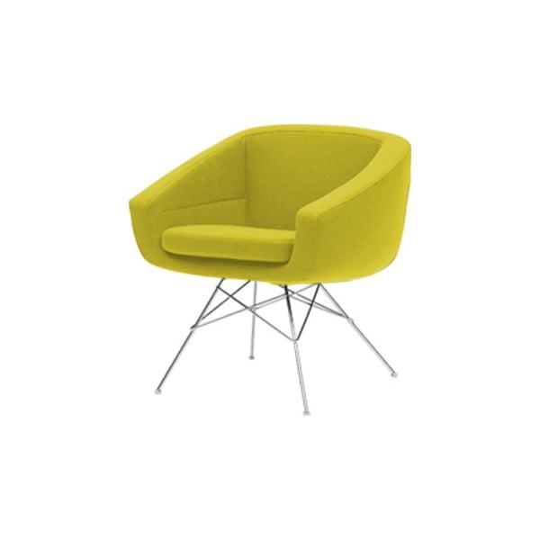 Żółty fotel Softline Aiko Felt Melange Yellow