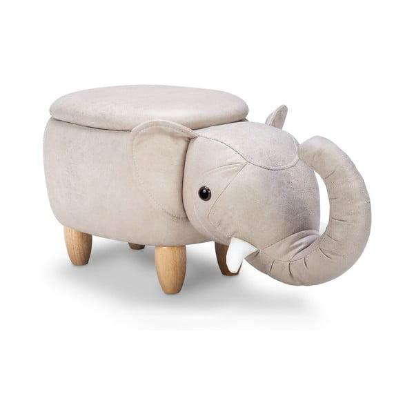 Taburetka s úložným priestorom KICOTI Elephant