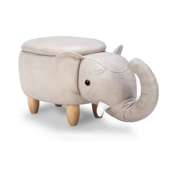 Taburet cu spațiu pentru depozitare KICOTI Elephant