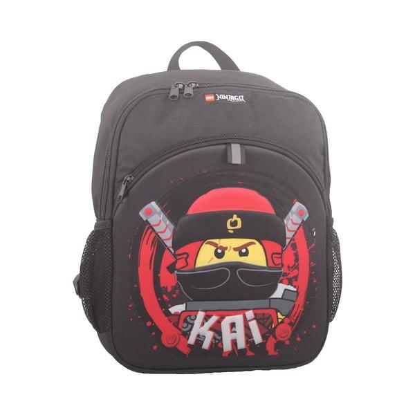 Czarny plecak LEGO® NINJAGO Kai, 27,5x37x9 cm