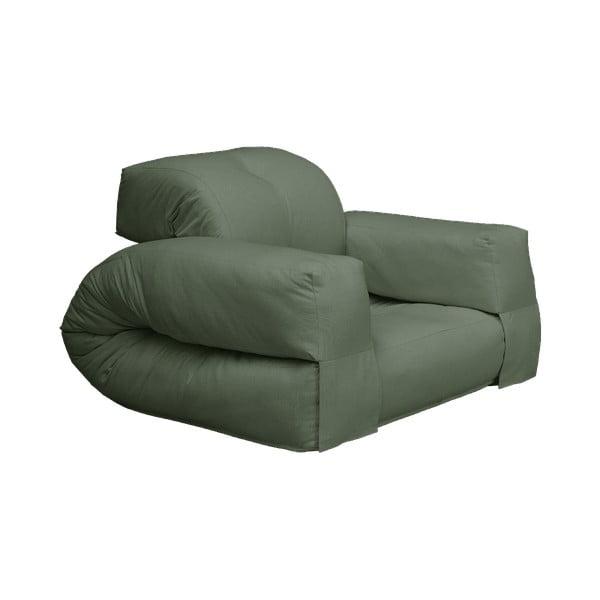 Fotel rozkładany z zielonym obiciem Karup Design Hippo Olive Green