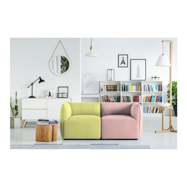 Zeleno-růžová modulová dvoumístná pohovka Norrsken Ollo