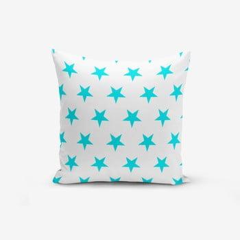 Față de pernă cu amestec din bumbac Minimalist Cushion Covers Turquoise Star Modern, 45 x 45 cm de la Minimalist Cushion Covers