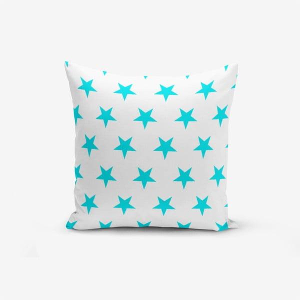 Turquoise Star Modern pamutkeverék párnahuzat, 45 x 45 cm - Minimalist Cushion Covers