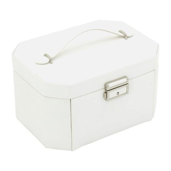 Šperkovnice Candy White, 20,5x15x11,5 cm