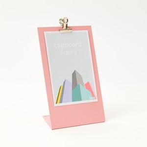 Růžový rámeček na fotku Clipboard Medium