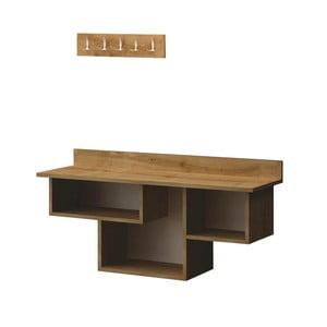 Set lavice s poličkami a věšákem do předsíně Renzo