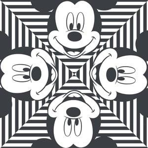Obraz Pyramid International Mickey Mouse Stripes Squres, 40 x 40 cm