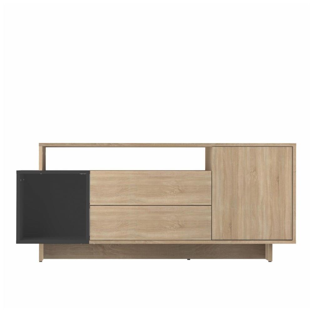 Světle hnědý televizní stolek Symbiosis Kube
