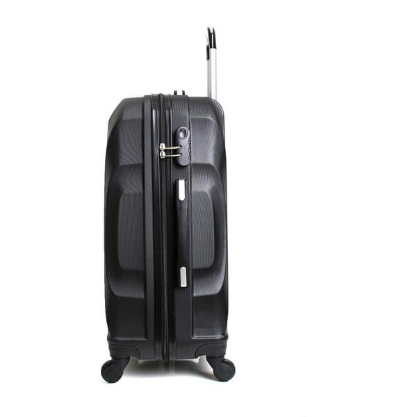 Černý cestovní kufr na kolečkách Hero Moscou-e,30l