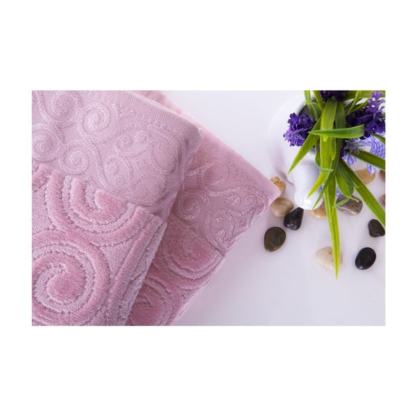 Set dvou ručníků Hanzade Pink, 50x90 cm