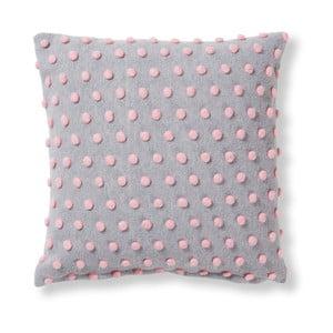 Růžovo-šedý polštář La Forma Temara,45x45cm