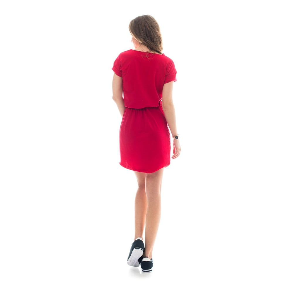 Červené bavlněné šaty Lull Loungewear Datilera b588bffb40