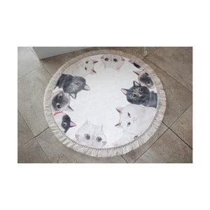 Koupelnová předložka Confetti Bathmats Angry Cats, ⌀ 90 cm