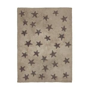 Béžový bavlněný ručně vyráběný koberec Lorena Canals Messy Stars, 120x160cm
