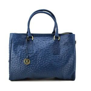 Kožená kabelka Struzzo Grande Blue