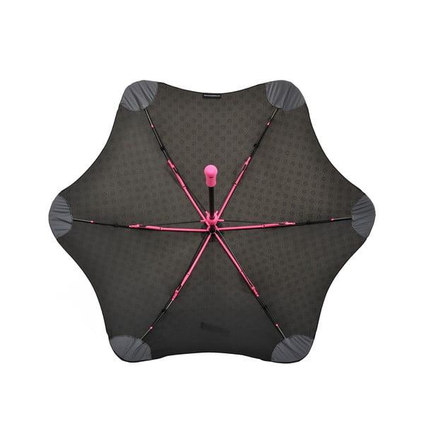 Vysoce odolný deštník Blunt Mini+ s reflexním potahem, růžový