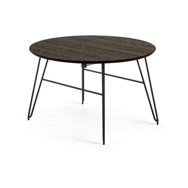 Masă La Forma Norfort, lungime 120/200 cm, negru