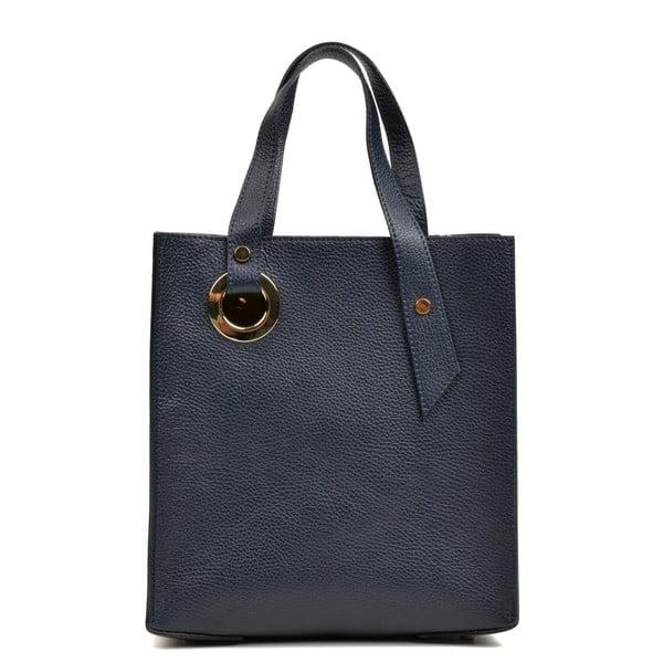 Tmavě modrá kožená kabelka Roberta M Murzo