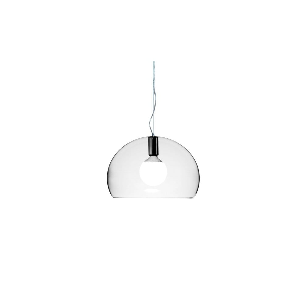 Transparentní stropní svítidlo Kartell Fly, ⌀ 38 cm