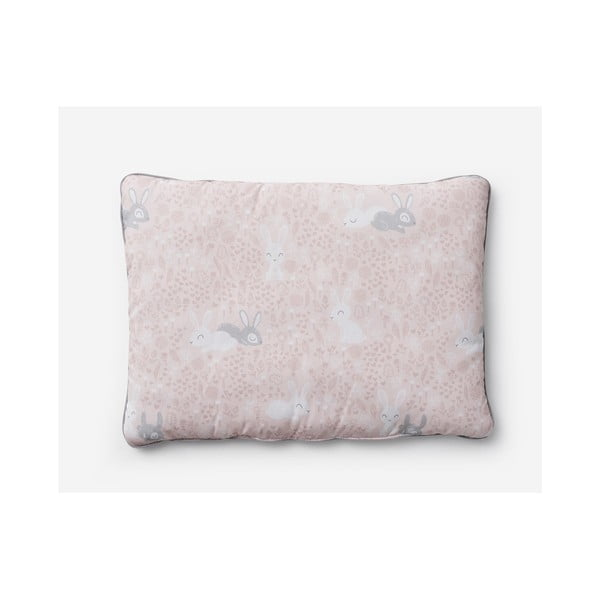 Bunnies rózsaszín gyerekpárna, 40 x 55 cm - Pinio