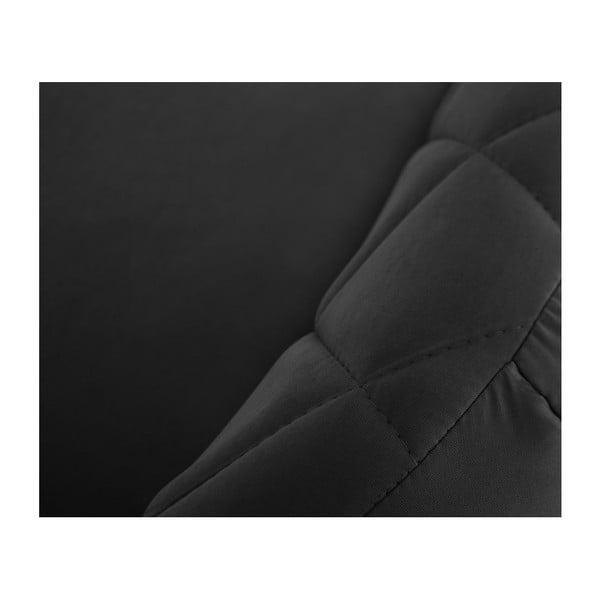 Canapea pentru 3 persoane Scandi by Stella Cadente Maison Diva, negru
