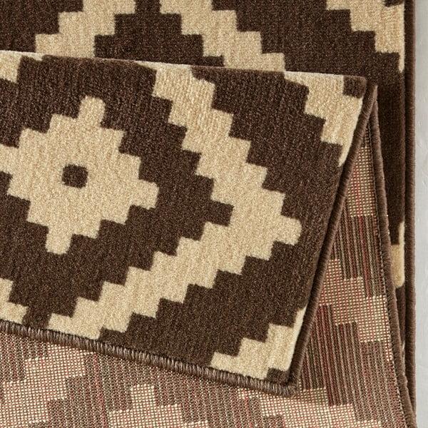 Hnědý koberec Hanse Home Hamla Diamond, 80x300cm