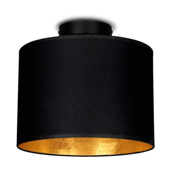 Čierne stropné svietidlo s detailom v zlatej farbe Sotto Luce MIKA, Ø25 cm