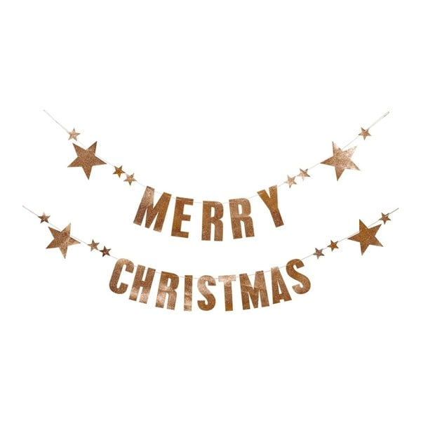 Set 2 ghirlande din hârtie pentru Crăciun Bloomingville Garland
