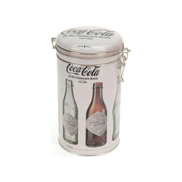 Kruhová kovová dóza s uzávěrem Postershop Coke