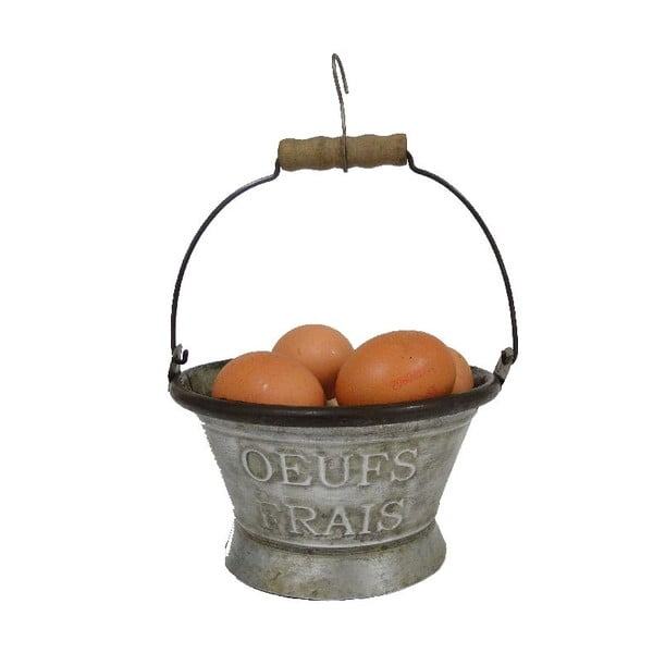 Košík na vajíčka ze zinku Antic Line Vintage, Ø 16,5 cm
